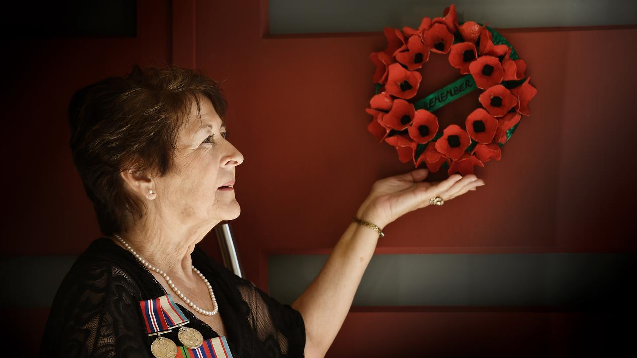 Sharon Cadwallader has come up with an innovative way to honour the Anzacs during the coronavirus lockdown.
