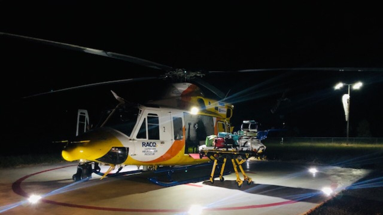 MERCY DASH: A young injured quad biker was treated by the RACQ Capricorn Rescue team before being taken to Rockhampton Hospital.