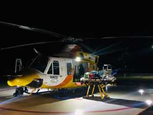 Rescue helicopter races to injured young quad biker