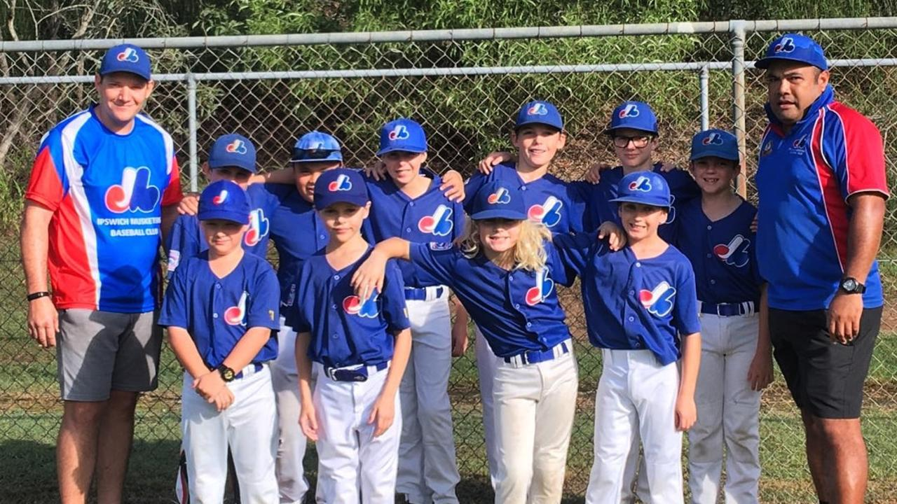 The unbeaten Ipswich Musketeers baseball team that won this year's GBL Little League South Division 2 premiership.