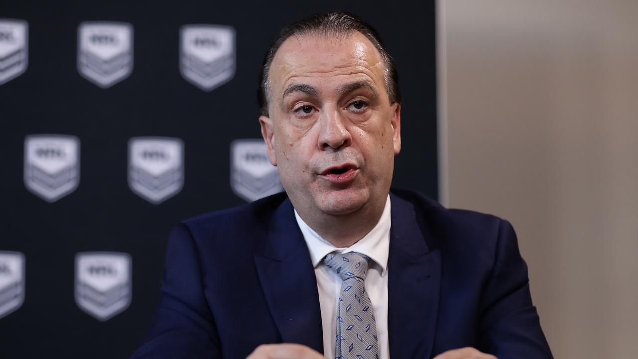 ARLC Chairman Peter V'landys had a meeting with Channel 9 CEO Hugh Marks on Tuesday.