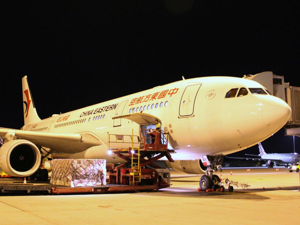 Andrew Forrest's Minderoo Foundation is chartering three aircraft from China to deliver more than 90 tonnes of medical supplies to Perth this week. Picture: AAP