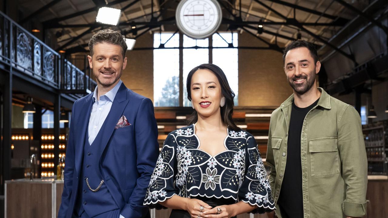 MasterChef Australia judges Jock Zonfrillo, Melissa Leong and Andy Allen. Picture: Channel 10