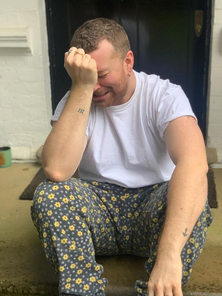 Sam Smith posted pictures of himself looking distraught on Instagram. Picture: @samsmith/Instagram