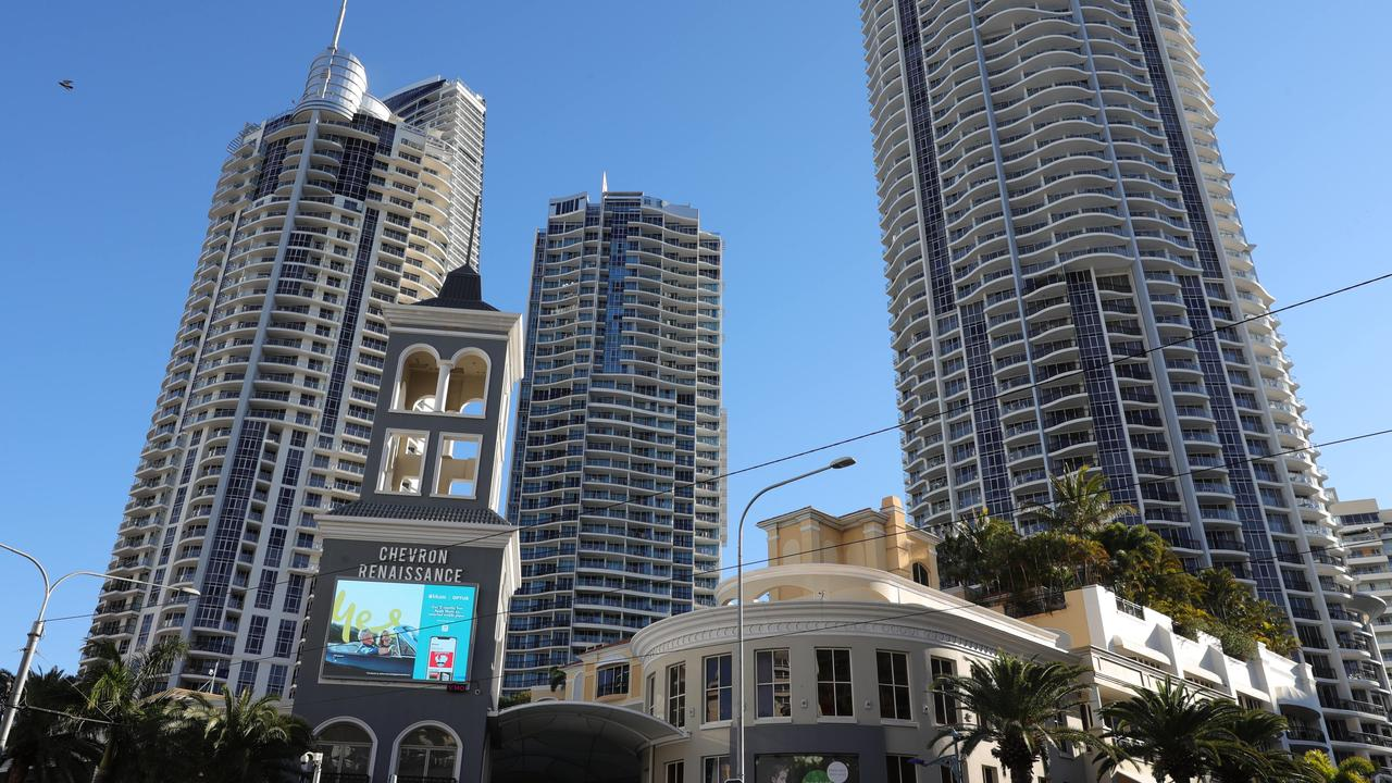 Chevron Renaissance is one of the Gold Coast's biggest residential towers. Picture Glenn Hampson