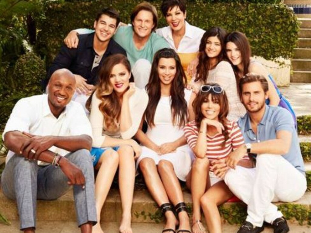 Bruce with members of the Kardashian family, prior to his gender transition.