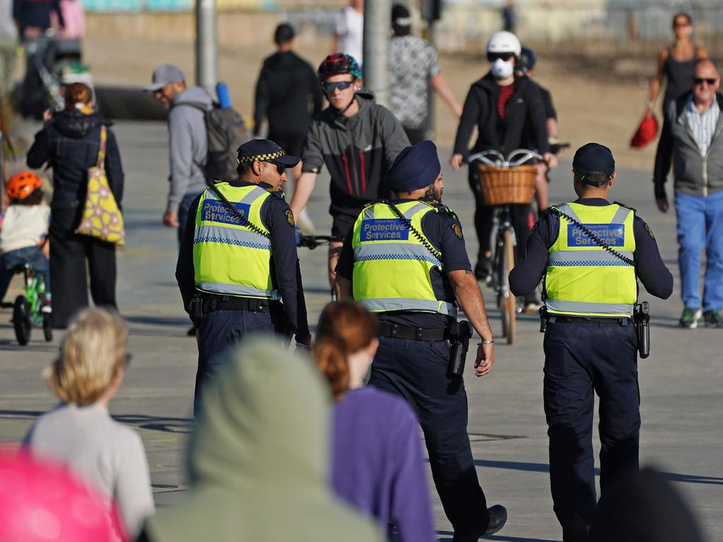 Police officers were out in force over Easter. Picture: AAP Image/Scott Barbour