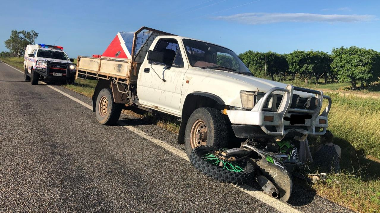 A spokesman from Queensland Police Media said the driver of the motorcycle was a 17-year-old male.