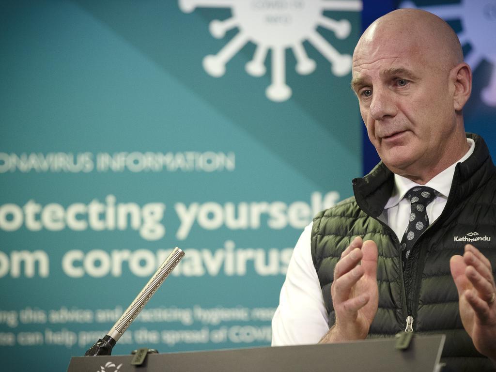 Tasmanian Premier Peter Gutwein during the COVID-19 update. Picture: Chris Kidd
