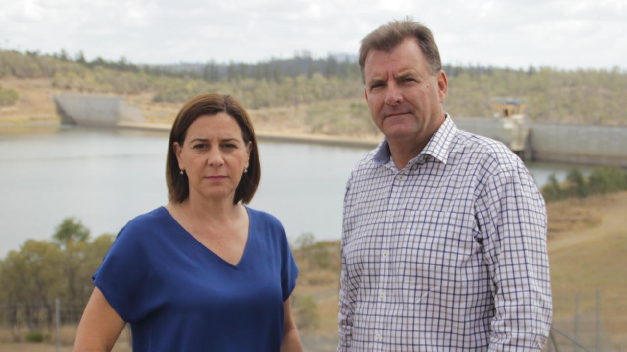 Opposition leader Deb Frecklington and Burnett MP Stephen Bennett were in Bundaberg today to call on the state government to stop the works being done at Paradise Dam until further options were explored.