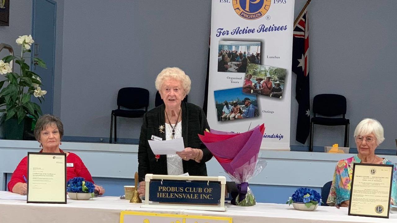 Florence Drury celebrating her 100th birthday.