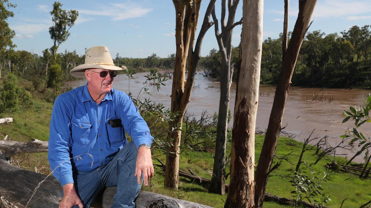 WATER READY: Gogango grazier Larry Acton's property borders the proposed Rockwood Weir site and is being considered as a site to host a 250 person workforce accommodation. Pic Peter Wallis