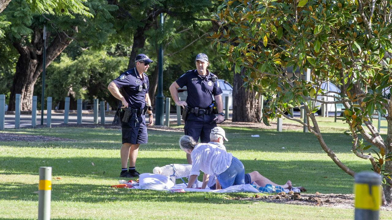Picnic at New Farm Park during coronavirus restrictions, Sunday, April 12, 2020 - Picture: Richard Walker