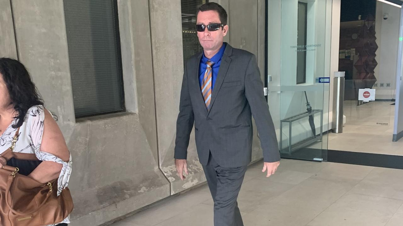 Vincent man Damian James Ryan was sentenced to 12 months jail for animal cruelty. He's pictured outside Townsville District Court yesterday.