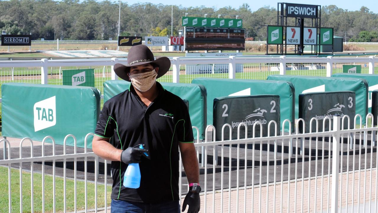 Ipswich Turf Club racecourse manager Sean Tou had important extra responsibilities for the return of racing at Bundamba. Picture: Claire Power