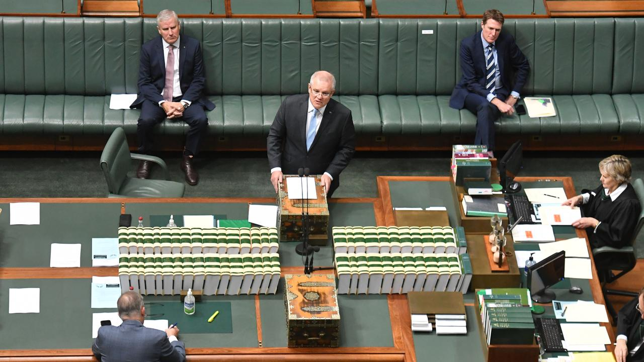 In early April, Prime Minister Scott Morrison dismissed regular parliamentary sittings until the threat of coronavirus has eased. Picture: AAP/Mick Tsikas