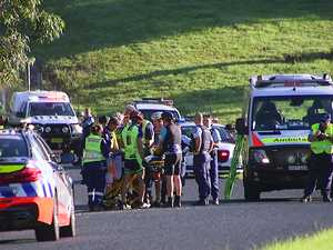 Cyclists seriously injured after being struck by ute