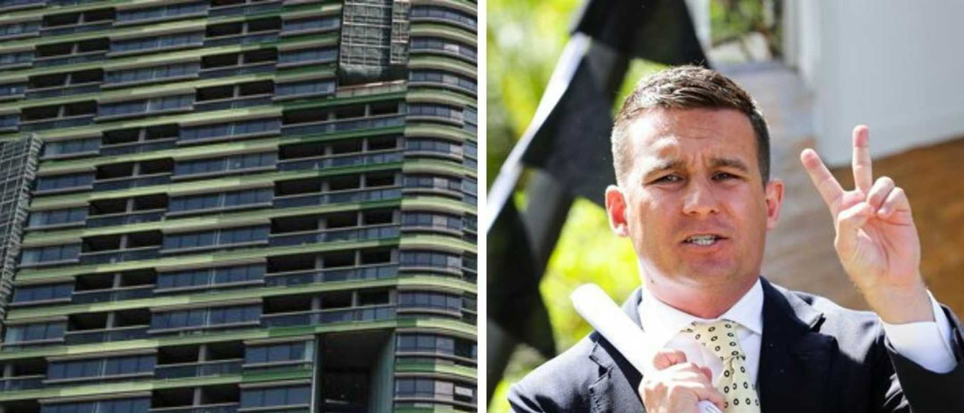 Landlords in one high-rise suburb have been forced to offer free rent and price discounting to combat a 300 per cent rise in vacant rental listings.