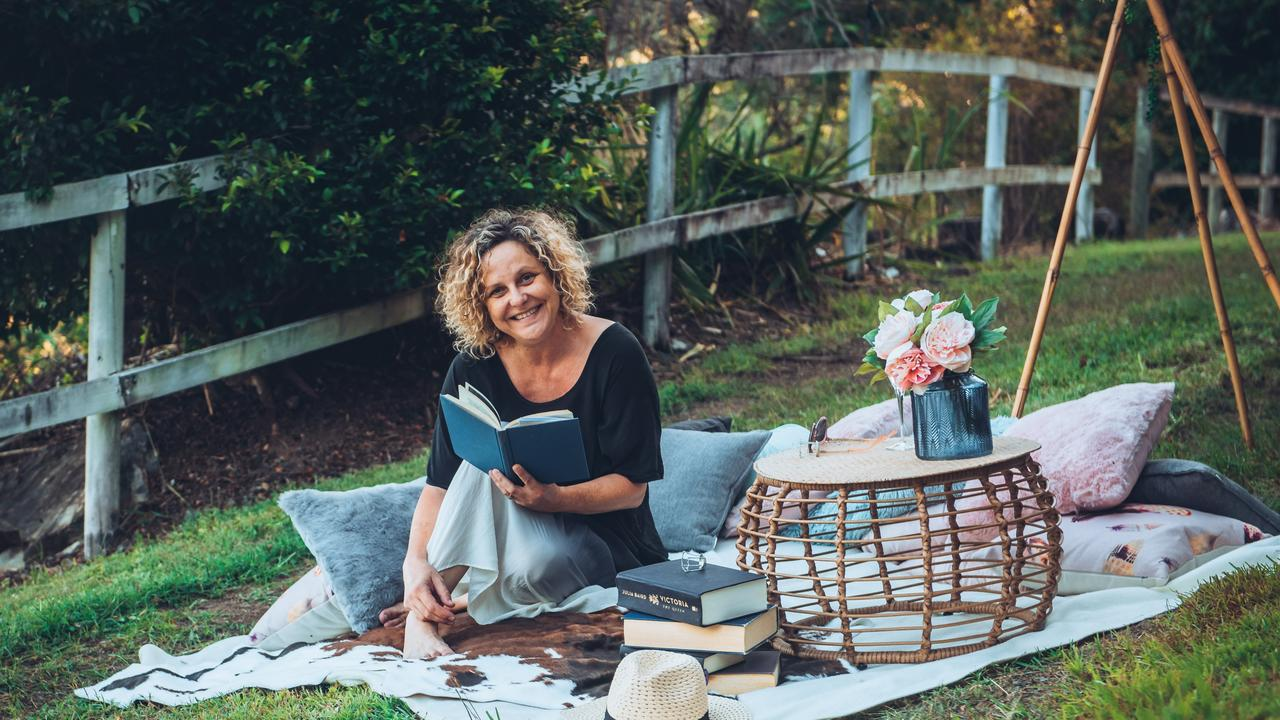 Gabi Harding in a front yard picnic (Destination Whitsundays and Peach & Pear Catering Whitsundays) Picture: R Jean Photography