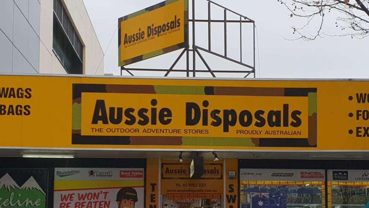 Camping chain Aussie Disposals will close 11 stores after the business' sales fell dramatically during the bushfire crisis and due to the coronavirus.
