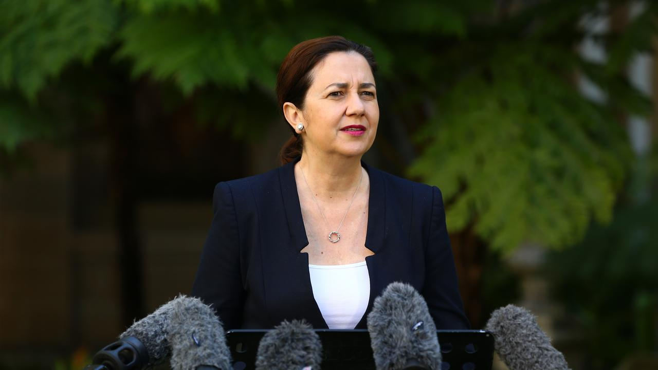 Queensland premier Annastacia Palaszczuk has spoken against the plan for Queensland clubs to be based in Sydney. Picture: AAP image/David Clark