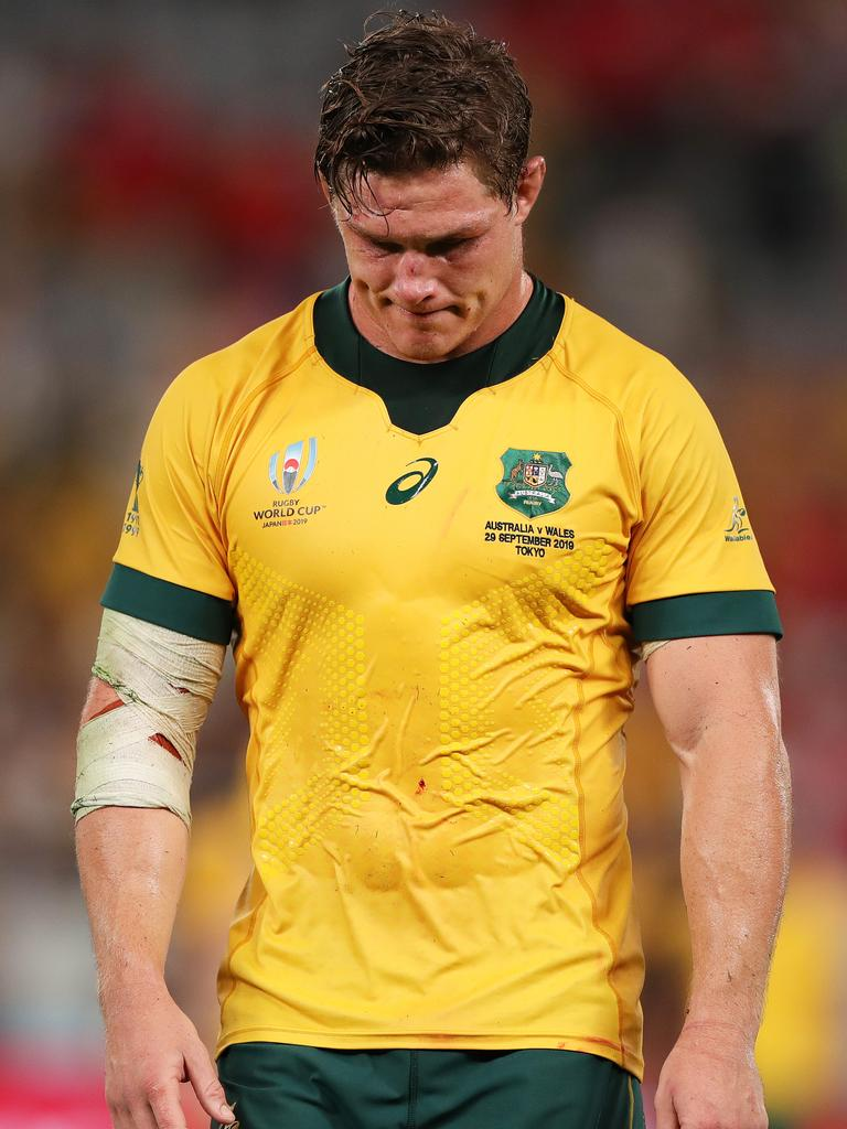 Wallabies captain Michael Hooper. Picture: Dan Mullan/Getty