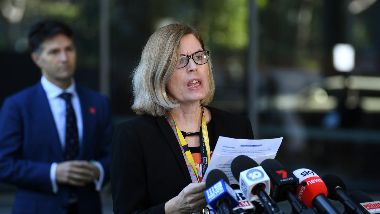 NSW Chief Health Officer Dr Kerry Chant speaks to the media on Tuesday. Picture: AAP
