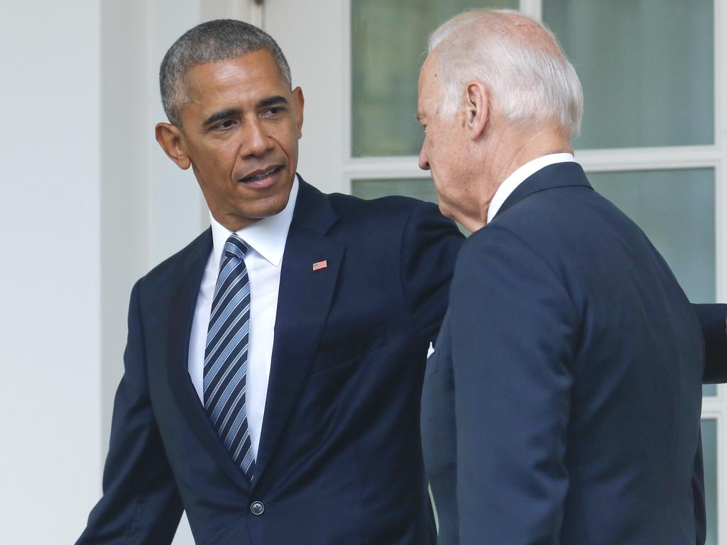 "Barack Obama said Joe Biden had ""all of the qualities"" needed in the White House. Picture: AP"