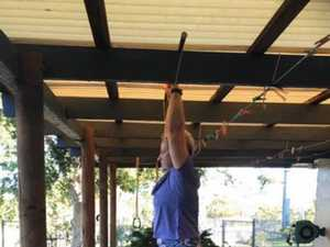 Former school teacher gives CrossFit lesson