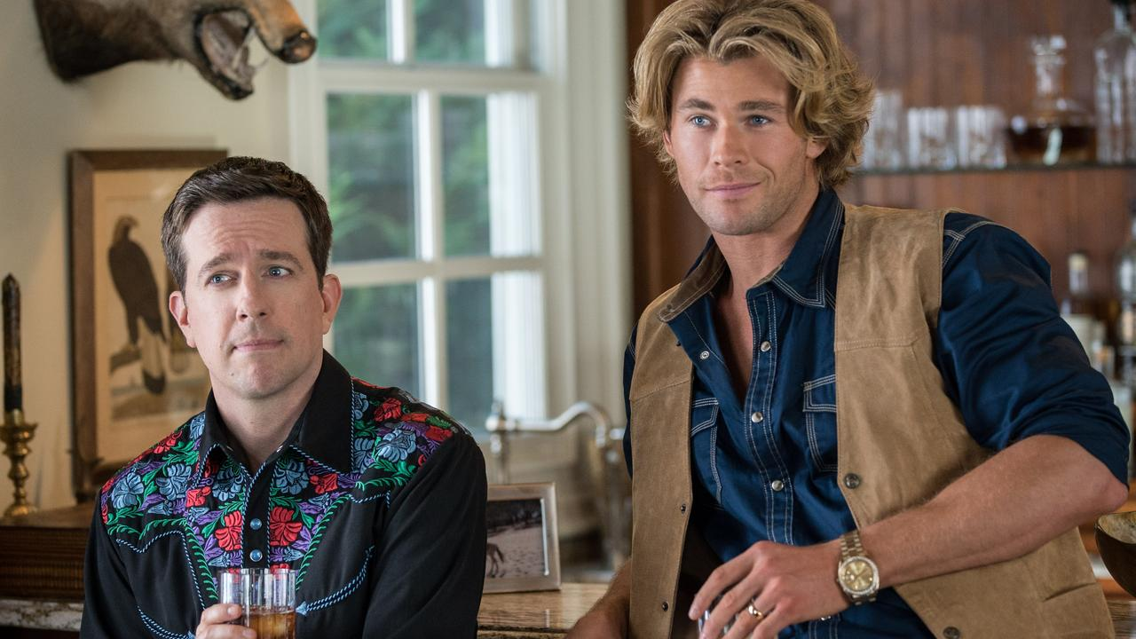 Ed Helms and Chris Hemsworth in Vacation.