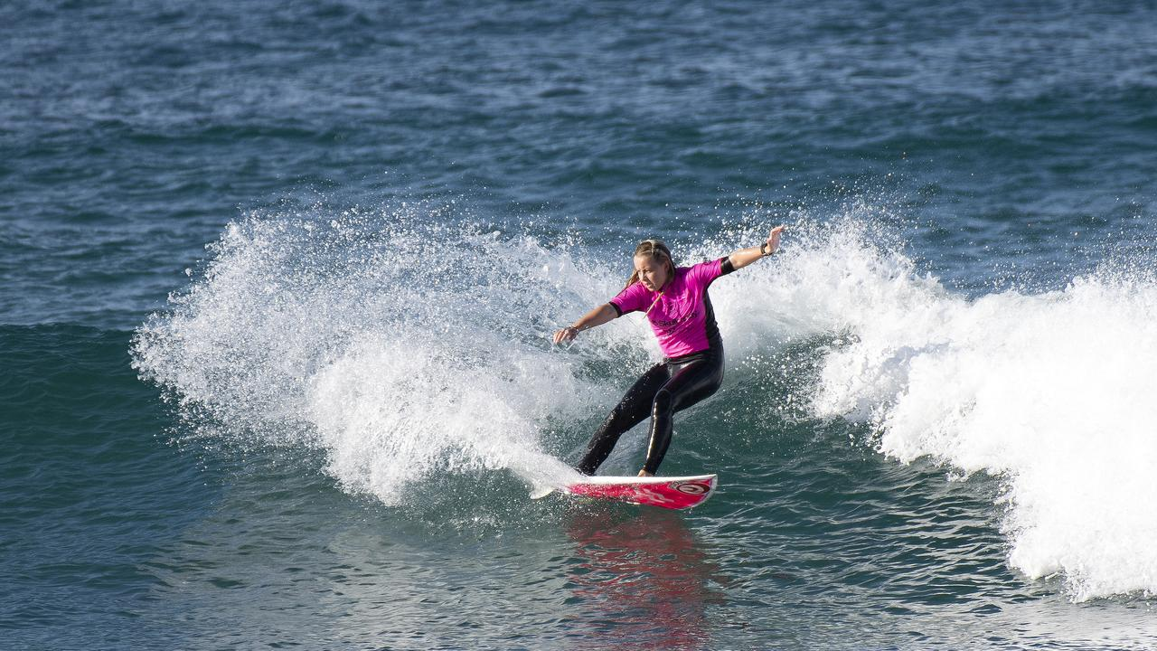 EVENT WIPEOUT: Lennox Head surfer Nyxie Ryan was in fine form at the Skullcandy Oz Grom at Lennox Head in 2019 but the 2020 event has been cancelled due to the COVID-19 pandemic.