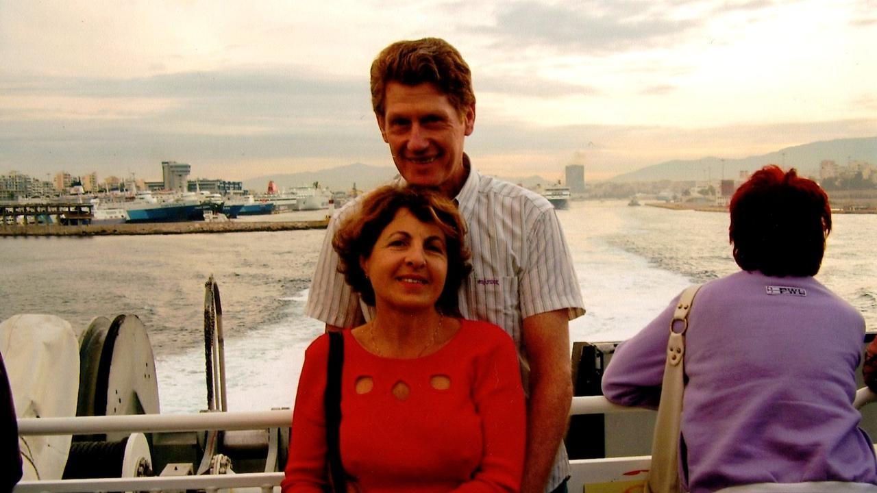 Security guard Gary Allibon and his wife Monica Allibon.