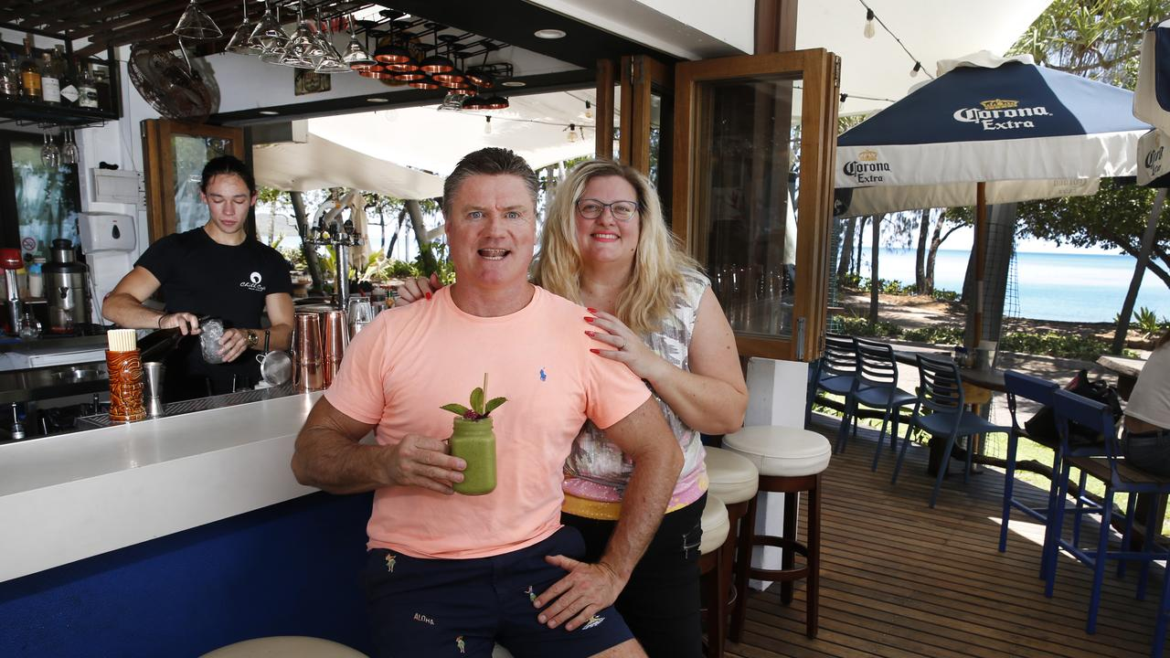 Chill Cafe co-owners Tony and Manuela Moore at Chill Cafe in Palm Cove PICTURE: ANNA ROGERS