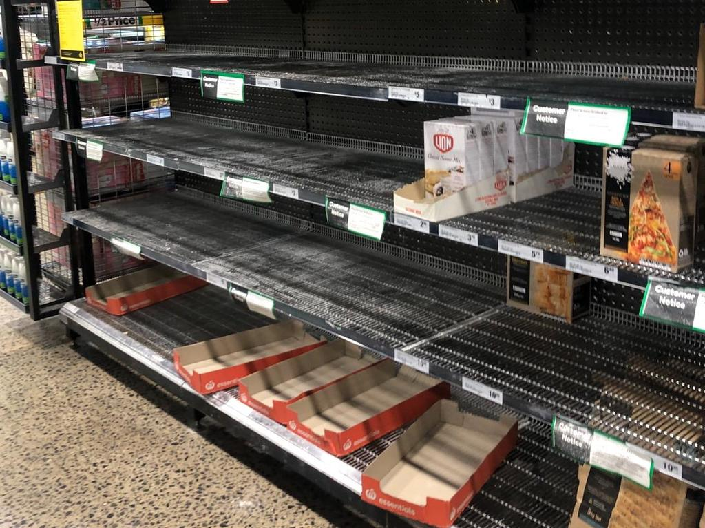 Shoppers across the country are reporting that flour has been scarce, despite product limits. Picture: Supplied