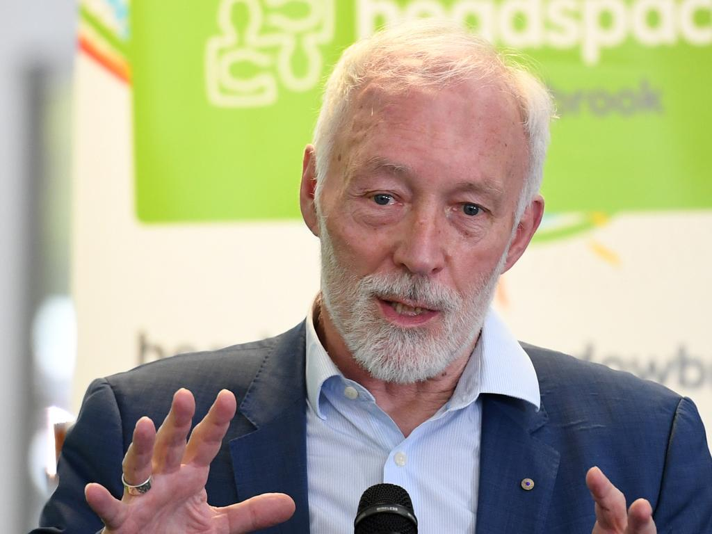 Professor Patrick McGorry has warned that the capacity of Australia's mental health system is not sufficient to meet the surge in demand that the coronavirus lockdown will cause. Picture: AAP Image/Dan Peled