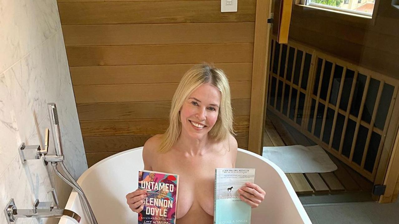 Comedian and talk show host Chelsea Handler has found one way to stave off the boredom during self-isolation.