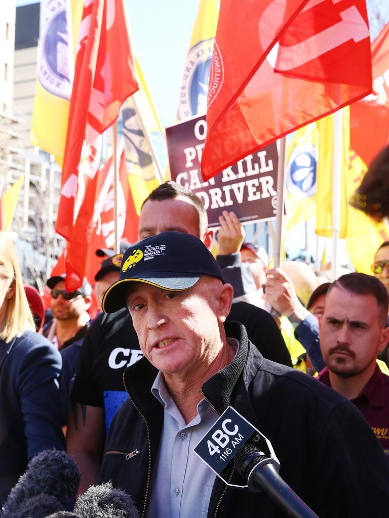 Australian Workers' Union secretary Steve Baker. Picture: Liam Kidston