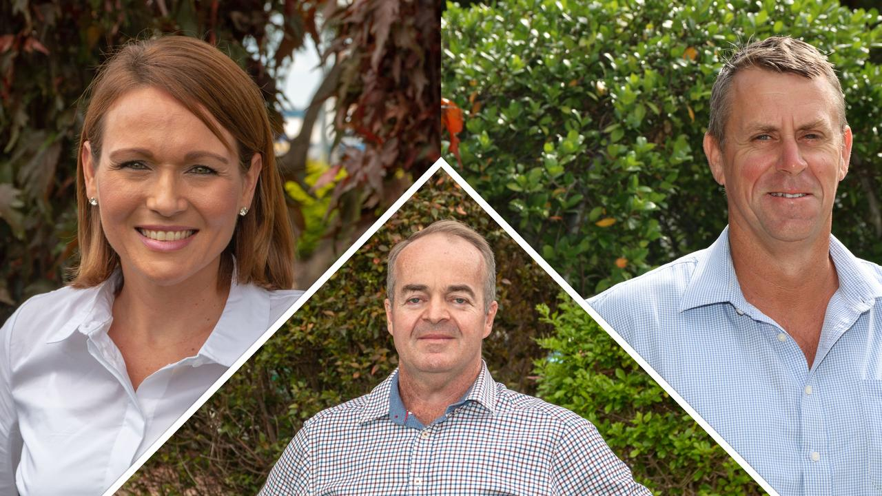 NEW FACES: Newly elected Somerset Councillors Kylee Isidro and Jason Wendt with new Lockyer Valley Councillor Brett Qualischefski. Photo: Contributed