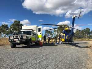 Truck driver in hospital after Hail Creek chopper rescue