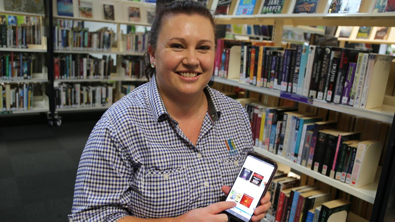 Isaac Regional Council librarian Kim Doyle showing off the council's online library resources.