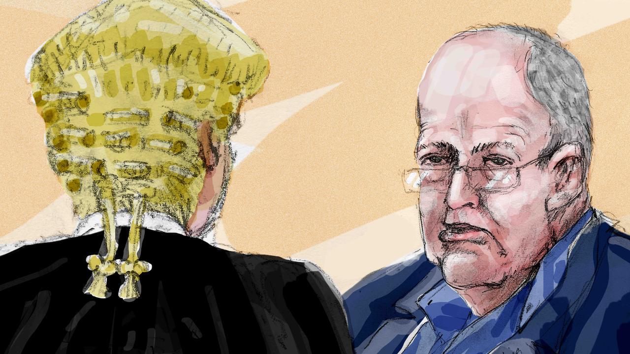 A court drawing of John Chardon. Picture: Richard Gosling