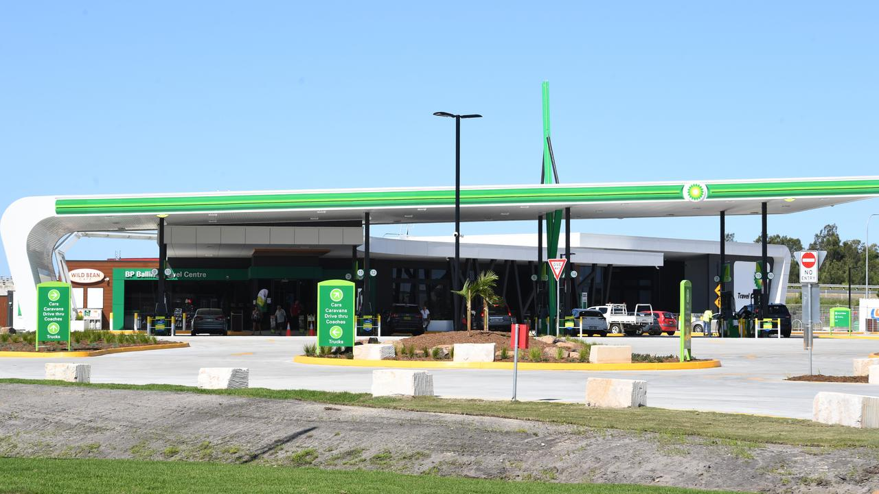 OPEN FOR BUSINESS: The new BP service station at the Ballina/Pacific Motorway interchange in Northern NSW. Photo: Marc Stapelberg