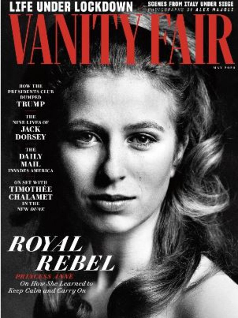 Princess Anne on the cover of Vanity Fair. Picture: Vanity Fair