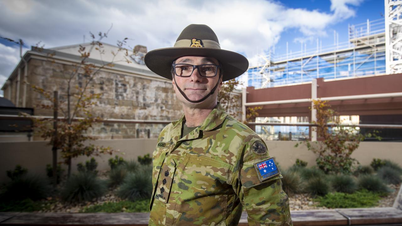Colonel David Hughes of the Australian Defence Force who is assisting with the co-ordination of the AUSMAT clean up of the North West Regional Hospital. Picture: LUKE BOWDEN