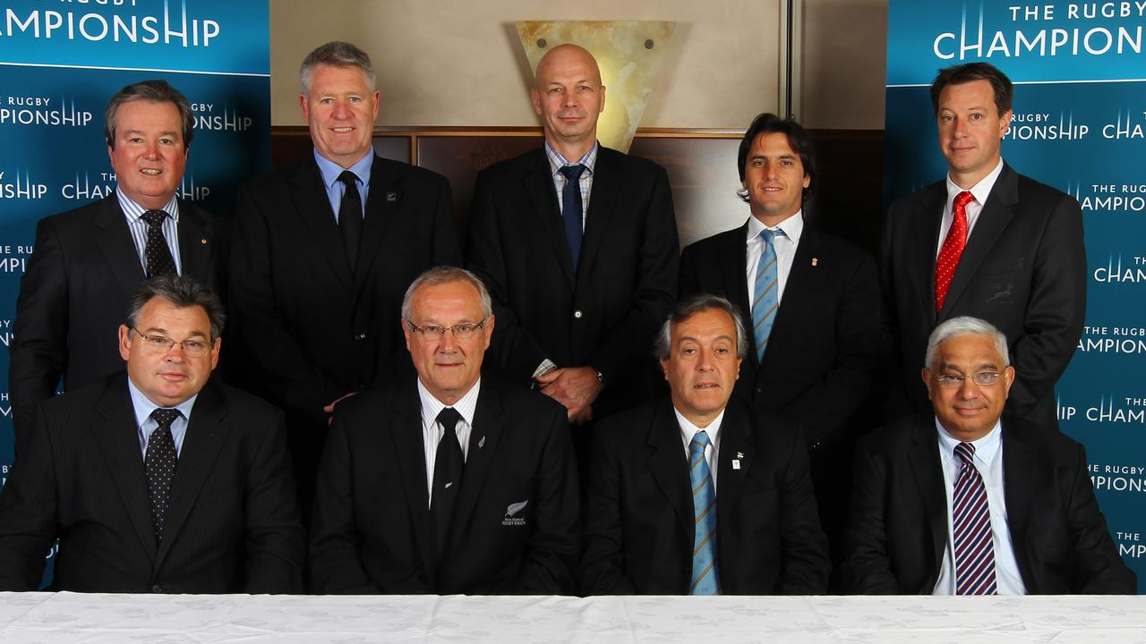 Agustin Pichot (backrow, second from right) wants to shake-up world rugby. Picture: Sandra Mu/Getty