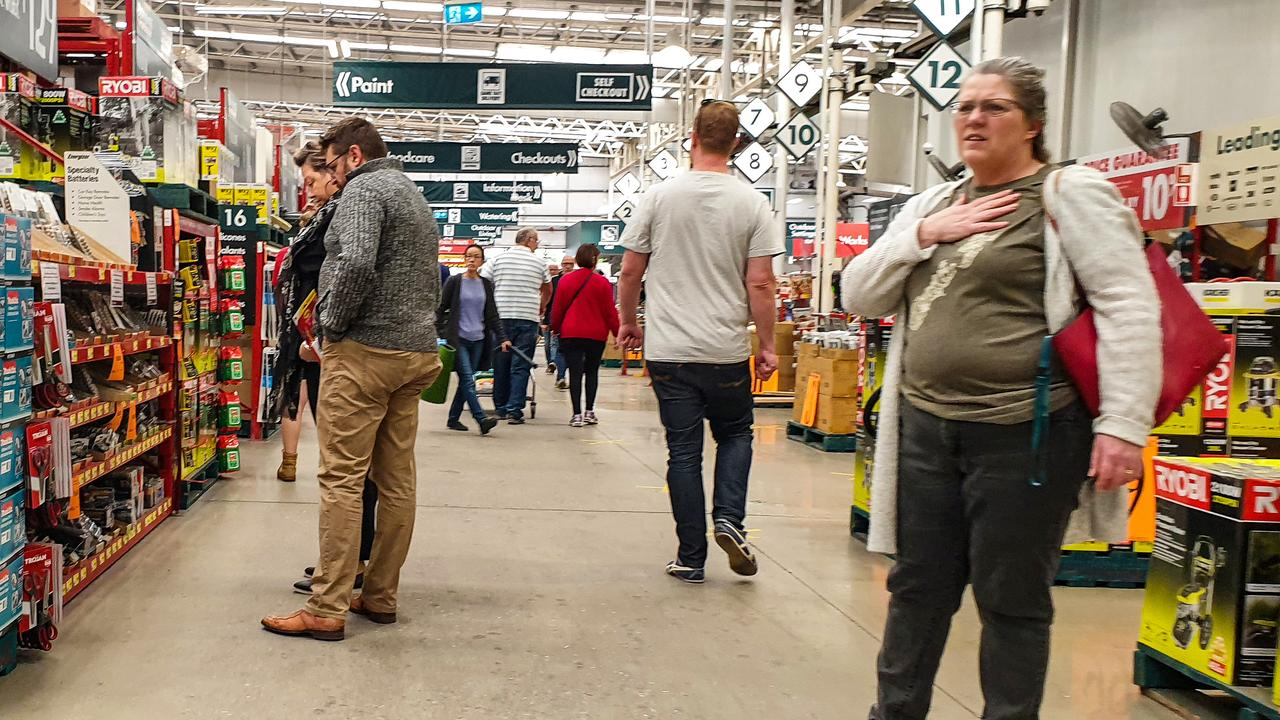 Shoppers at Bunnings in South Australia. Picture: Brenton Edwards