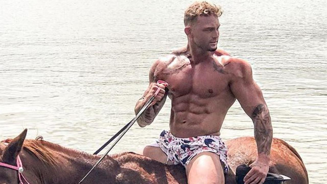 "Instafamous fitness model Garry Turner says he ""forgot"" he needed to report to police. Picture: Instagram"