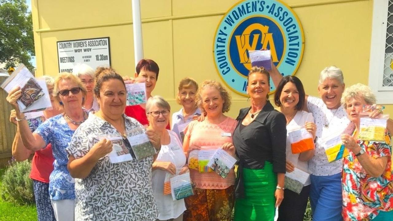 Some of the Woy Woy CWA members with president Jane Bowtell (in pants centre).