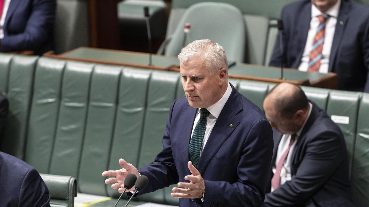 Deputy Prime Minister and Minister for Infrastructure, Transport and Regional Development Michael McCormack during Question Time in the House of Representatives in Parliament House in Canberra. Picture Gary Ramage