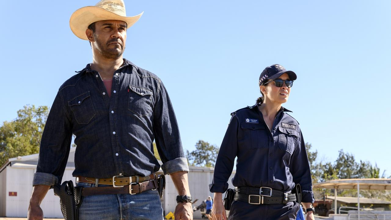 Aaron Pedersen (as Jay) & Jada Alberts (as Fran), Mystery Road 2 - Photograph by David Dare Parker